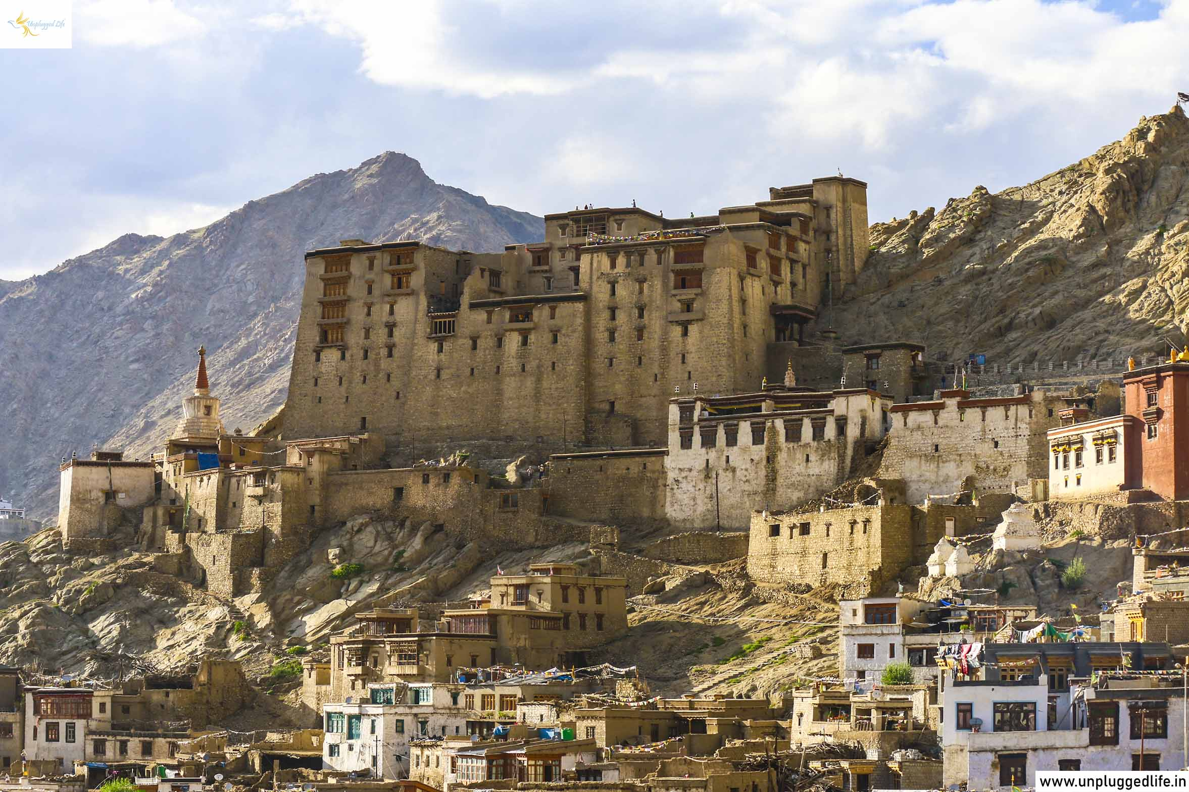 Unplugged Life, Himalayas, Ladakh, Leh View, View of Ladakh, View from Shanti Stupa, Mountain View, Leh Ladakh Sightseeing Tour, Leh Ladakh Package, Book Ladakh Trip, Sunset Point, Leh Palace