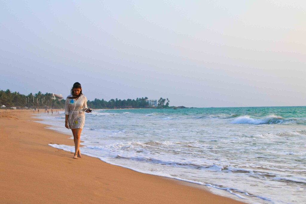 Unplugged Life, Bentota in Sri Lanka, Beach, Girl, Girl on Beach, Sandy Beach
