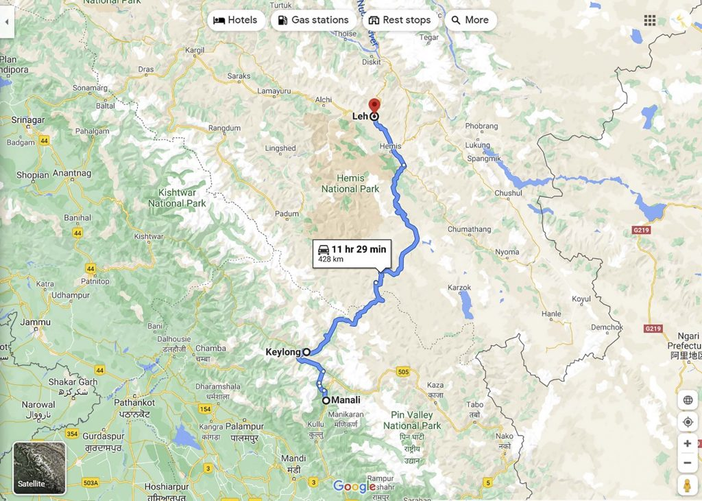 Manali-Leh Highway, Unplugged Life, Ladakh Packages, How to reach Ladakh, Google Maps, Ladakh by Road,