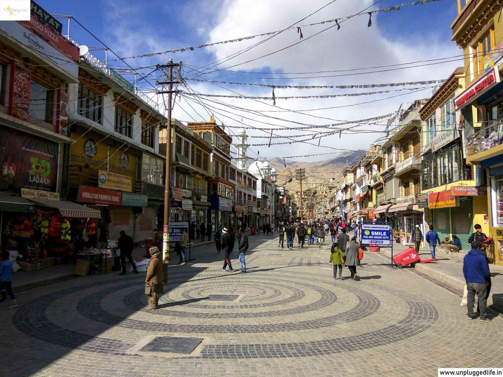 Leh Market, Top Places in Ladakh, Sightseeing in Leh-Ladakh, Unplugged Life, Himalayas, Manali to Leh Ladakh, Chandigarh to Leh Ladakh, Ladakh
